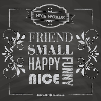 Blackboard friendship vector free