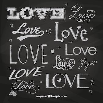Blackboard love lettering