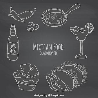 Blackboard mexican food