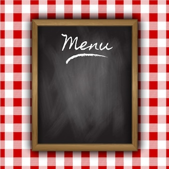 Blackboard of menu