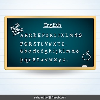 Blackboard with english subject