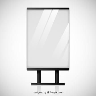 空白の看板