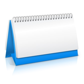 Blank calendar in realistic style