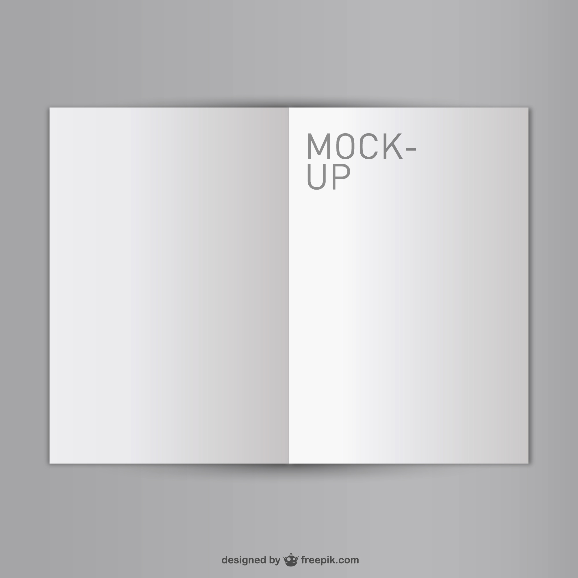 Blank opened book mock-up