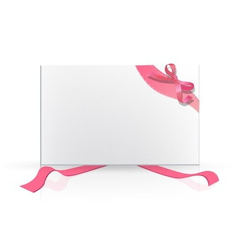 Blank paper with ribbon