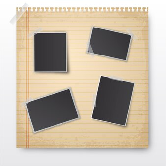 Blank photography frames