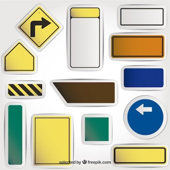 Blank road signs