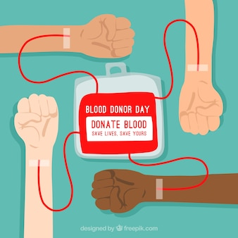 Blood donor background