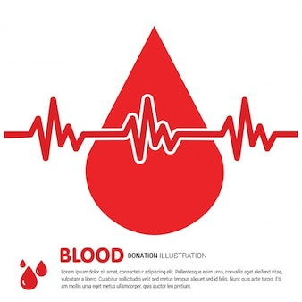 Blood drop background
