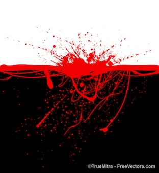 Blood stains on black background