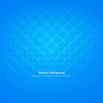 Blue abstract background decorated with geometric shapes