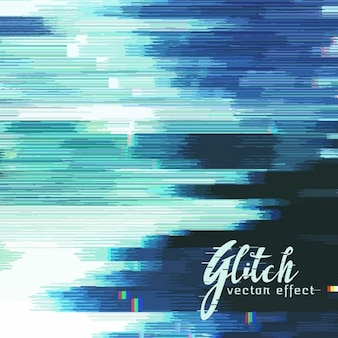 Blue abstract background, glitch effect