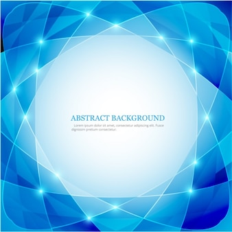 Blue abstract background with atom form