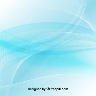 Blue abstract background with wavy shapes