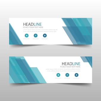 Blue abstract banner template design
