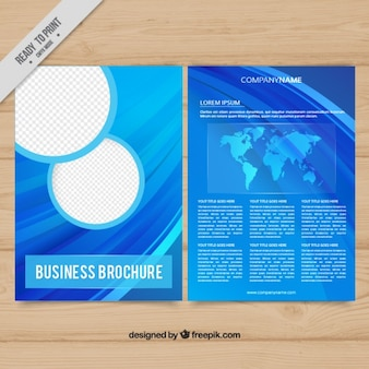 Blue abstract brochure template