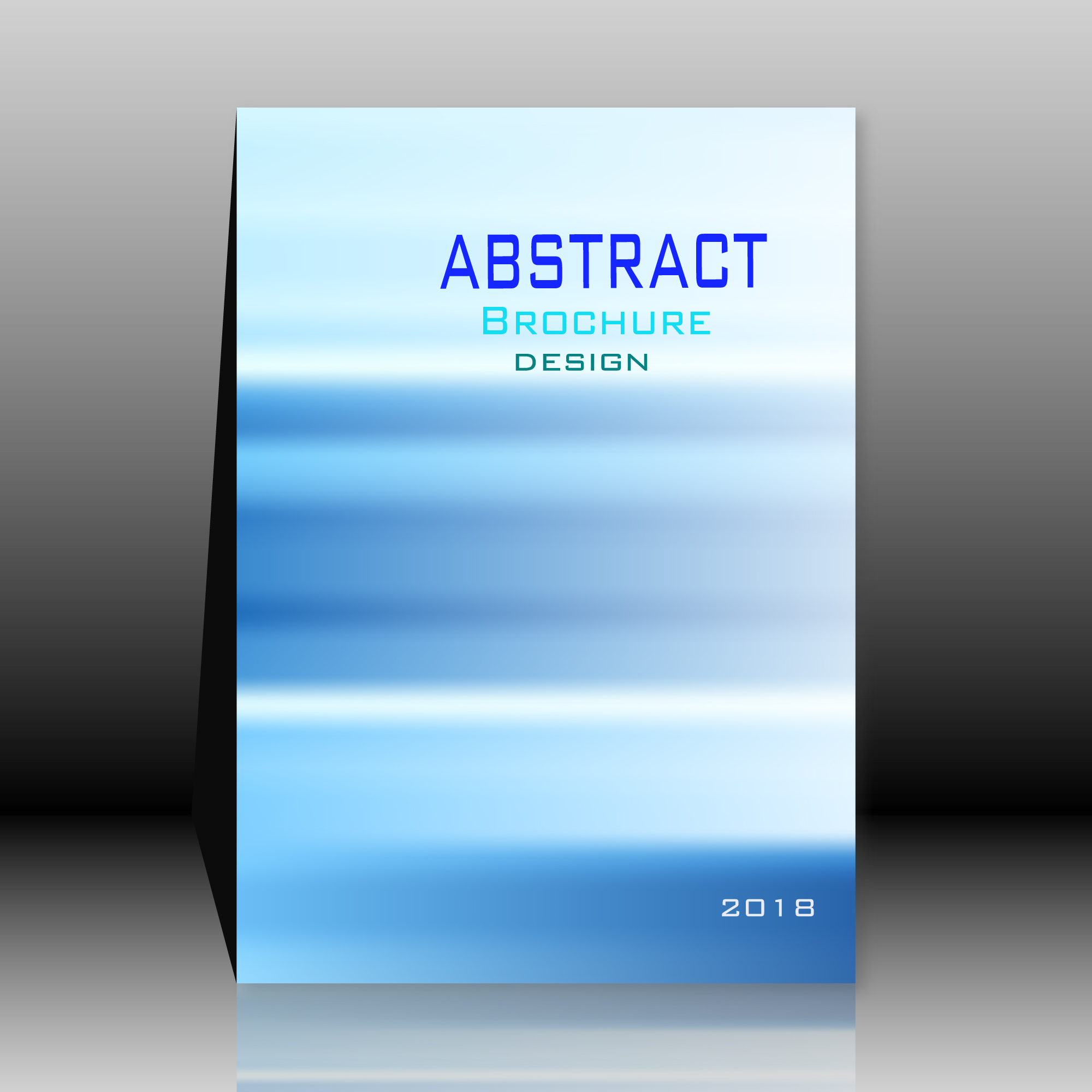 Blue abstract brochure