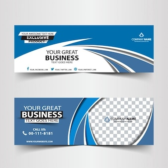 Blue abstract business header