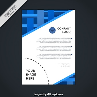 Blue abstract corporative flyer