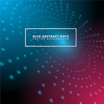 Blue abstract dots background