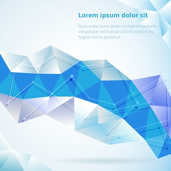 Blue abstract geometric triangles background vector illustration