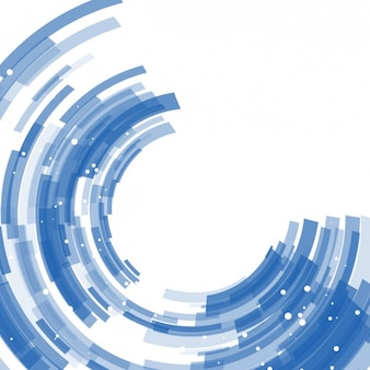 Blue abstract semicircles background