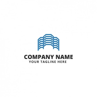 Blue abstract shapes logo template