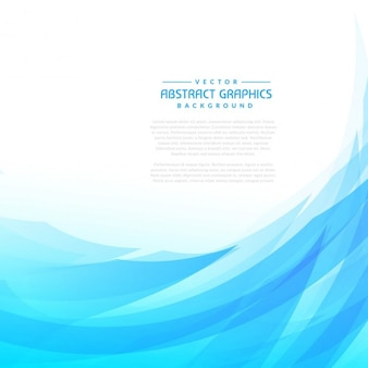Blue abstract wave modern background