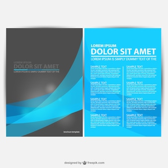 Blue and black brochure template