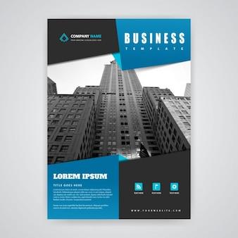 Blue and black brochure