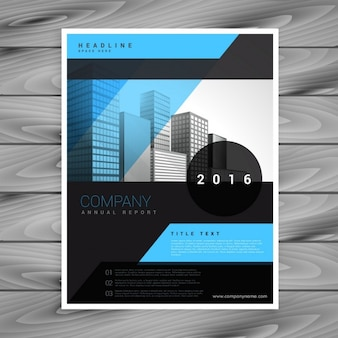 Blue and black business brochure template