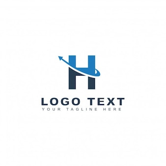 Blue and black letter h logo
