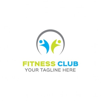 Blue and green fitness logo