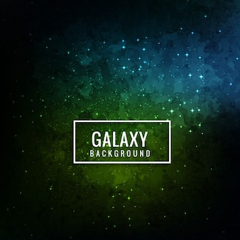 Blue and green galaxy background