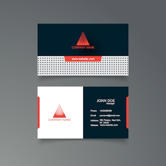 Blue and orange business card template