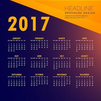 Blue and orange calendar