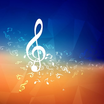 Blue and orange music background