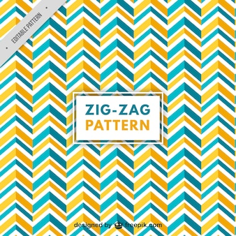 Blue and orange zigzag pattern