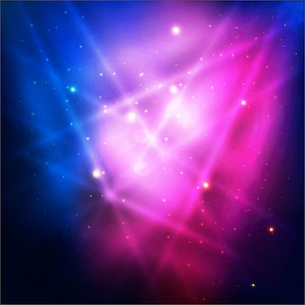Blue and pink shiny lights background