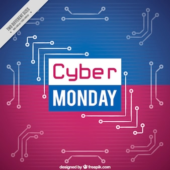 Blue and purple background of cyber monday