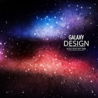 Blue and red background about galaxy