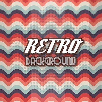 Blue and red retro background design
