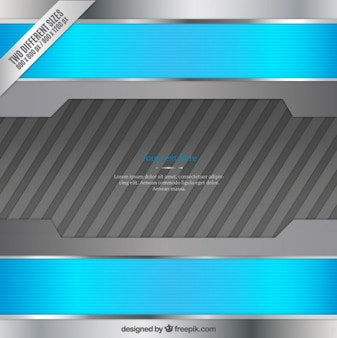 Blue and silver metallic background