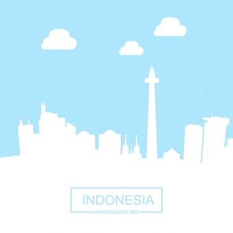 Blue and white background about indonesia