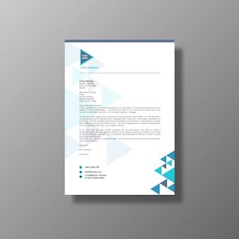 青と白のビジネスパンフレット