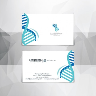 Blue and white dna business card