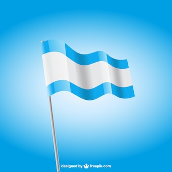 Blue and white flag