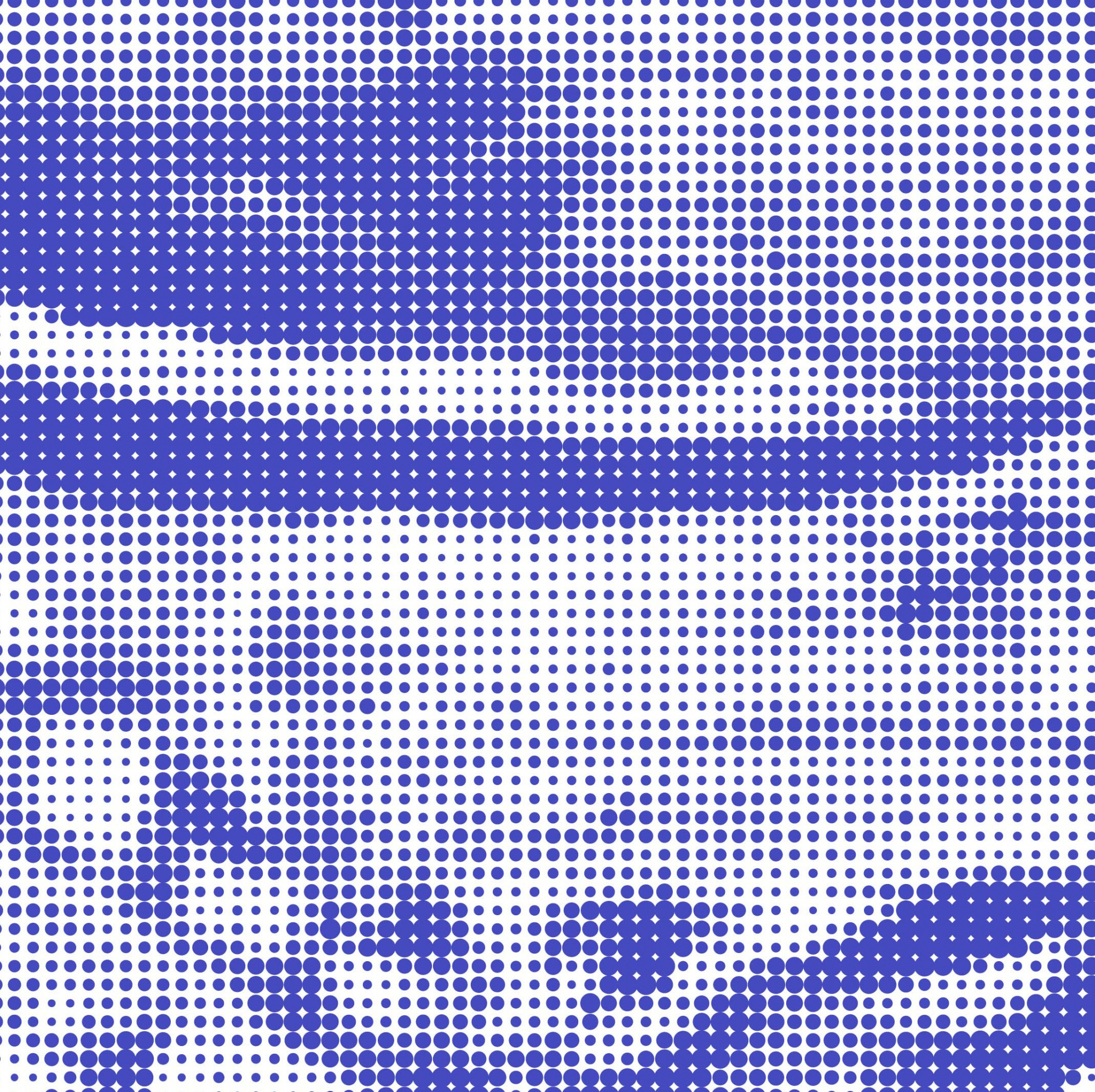 Blue and white halftone background