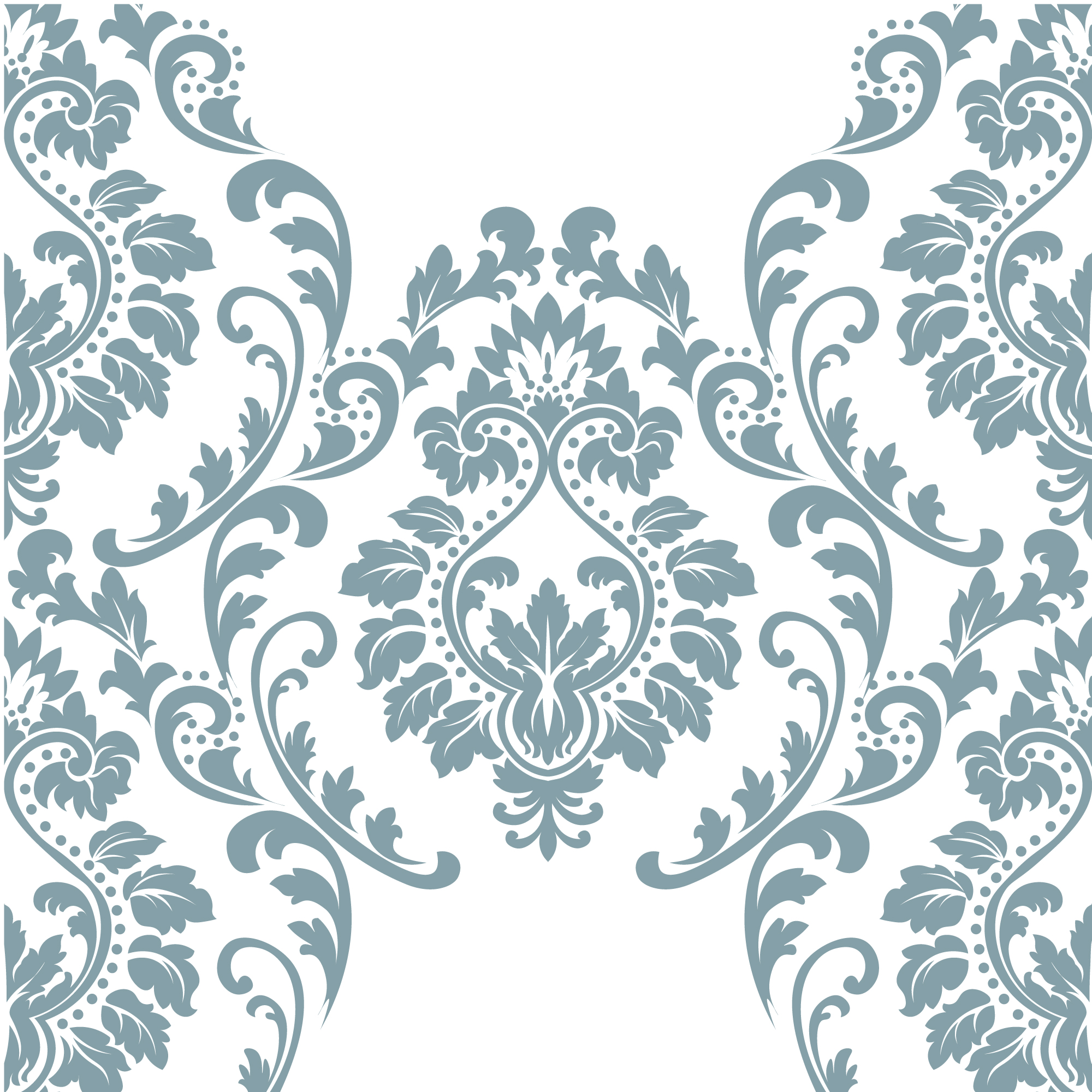 Blue and white ornamental pattern background