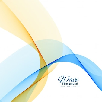Blue and yellow wavy abstract background